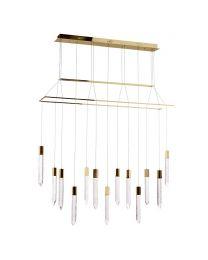 Visconte Krypto-Lampada 13 Light Bar Ceiling Pendant - Gold
