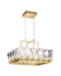Tozzo Square Pendant - Champagne Gold