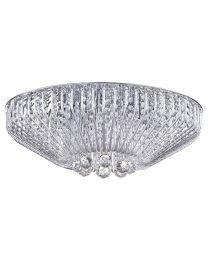 Brittany 7 Light Crystal Effect Flush Ceiling Light - Chrome