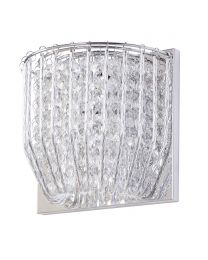 Brittany 1 Light Crystal Effect Wall Light - Chrome