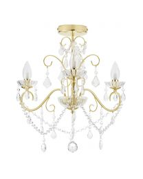 Vara 3 Light Bathroom Chandelier - Satin Brass