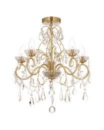 Vara 5 Light Bathroom Chandelier - Satin Brass