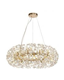 Visconte Scoppio de Stelle 20 Light Crystal Ceiling Pendant - Gold