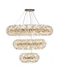 Visconte Scoppio de Stelle 74 Light 3 Tier Crystal Ceiling Pendant - Gold