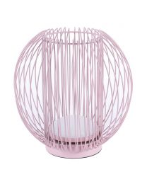 Wire Ball LED Table Lamp - Pink