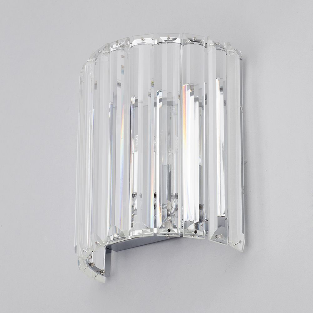Wall Light Fitting Instructions : 1 Light Prism Bar Wall Light - Chrome From Litecraft
