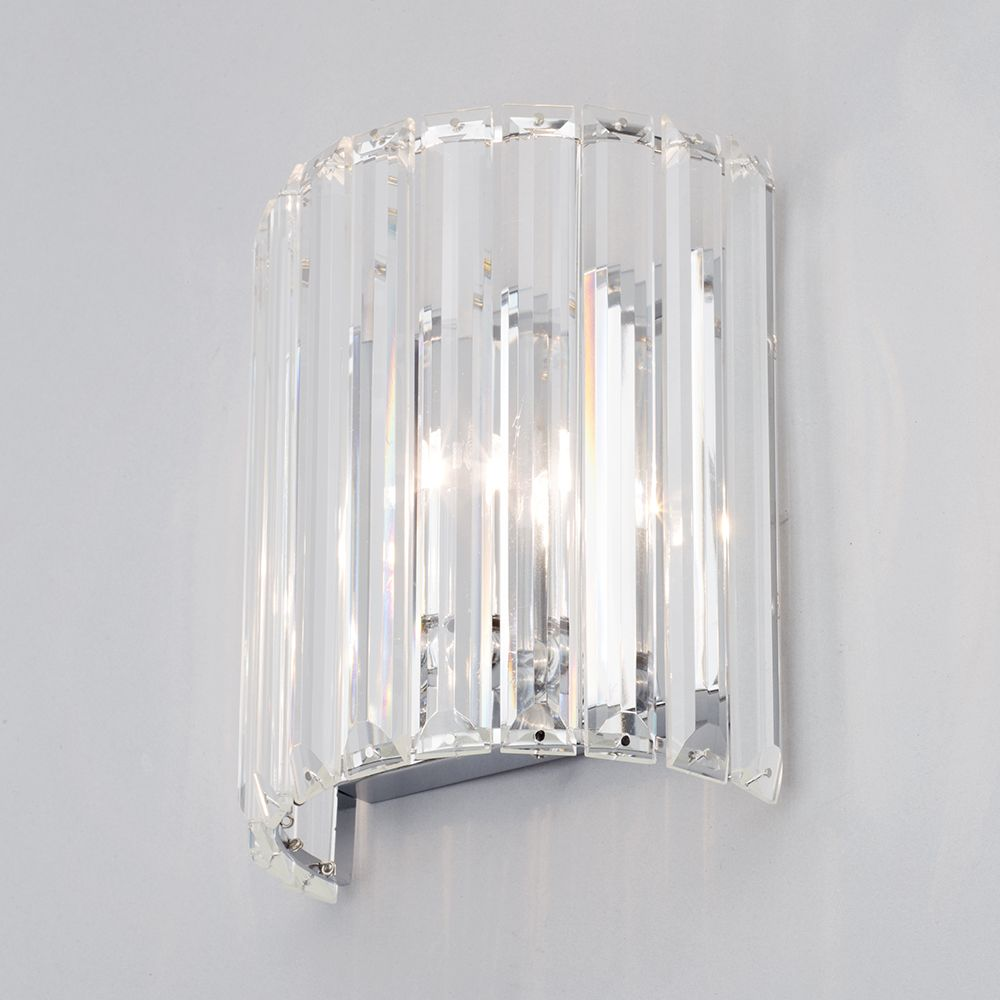 1 Light Prism Bar Wall Light - Chrome From Litecraft