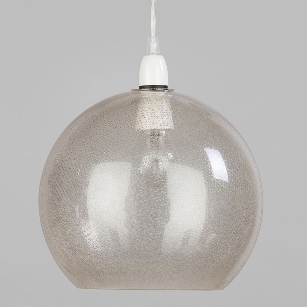 Dimpled glass bowl easy to fit ceiling lamp shade glass from litecraft champagne coloured ceiling light aloadofball Image collections