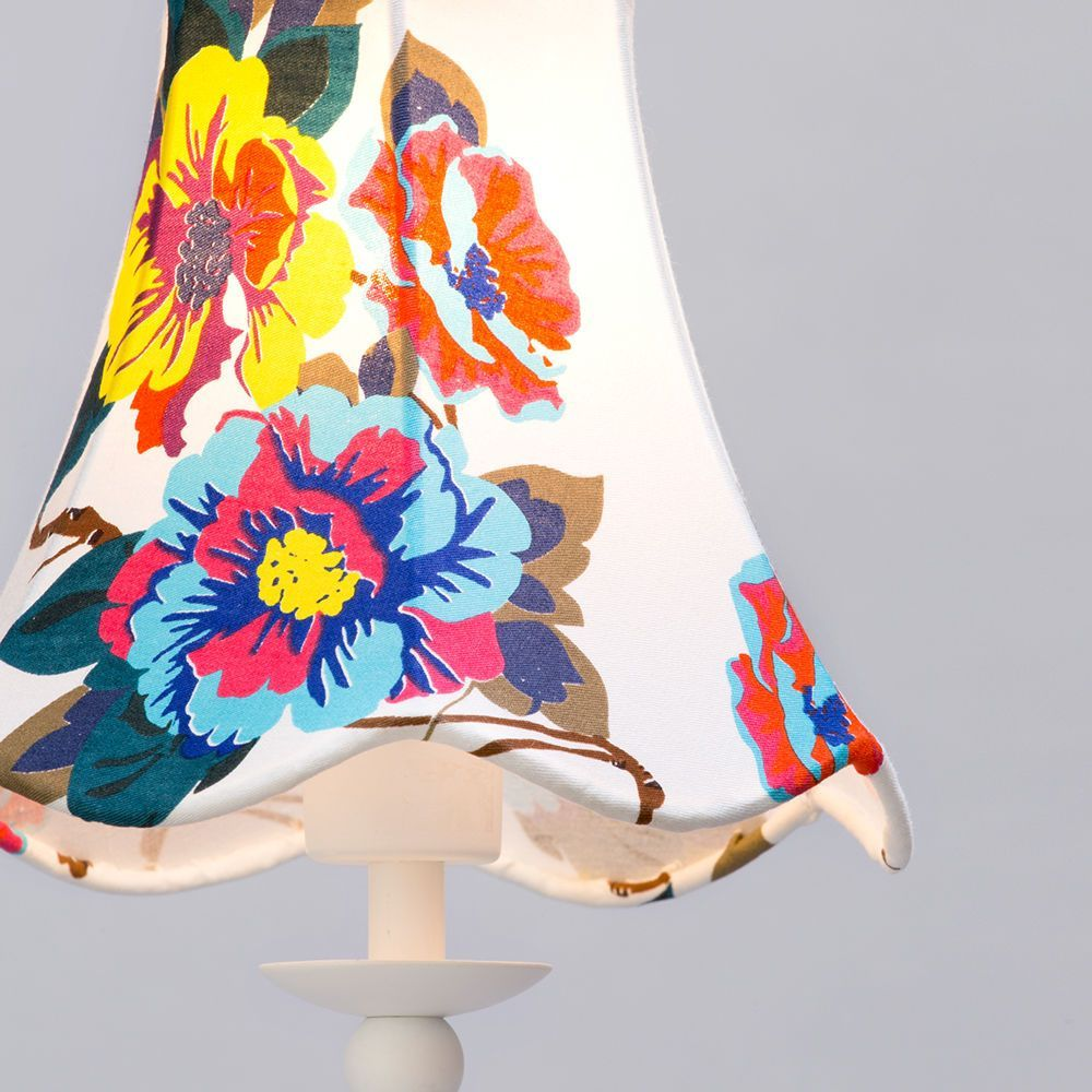 1 light stick table lamp with floral conical shade white from floral lamp shade aloadofball Image collections