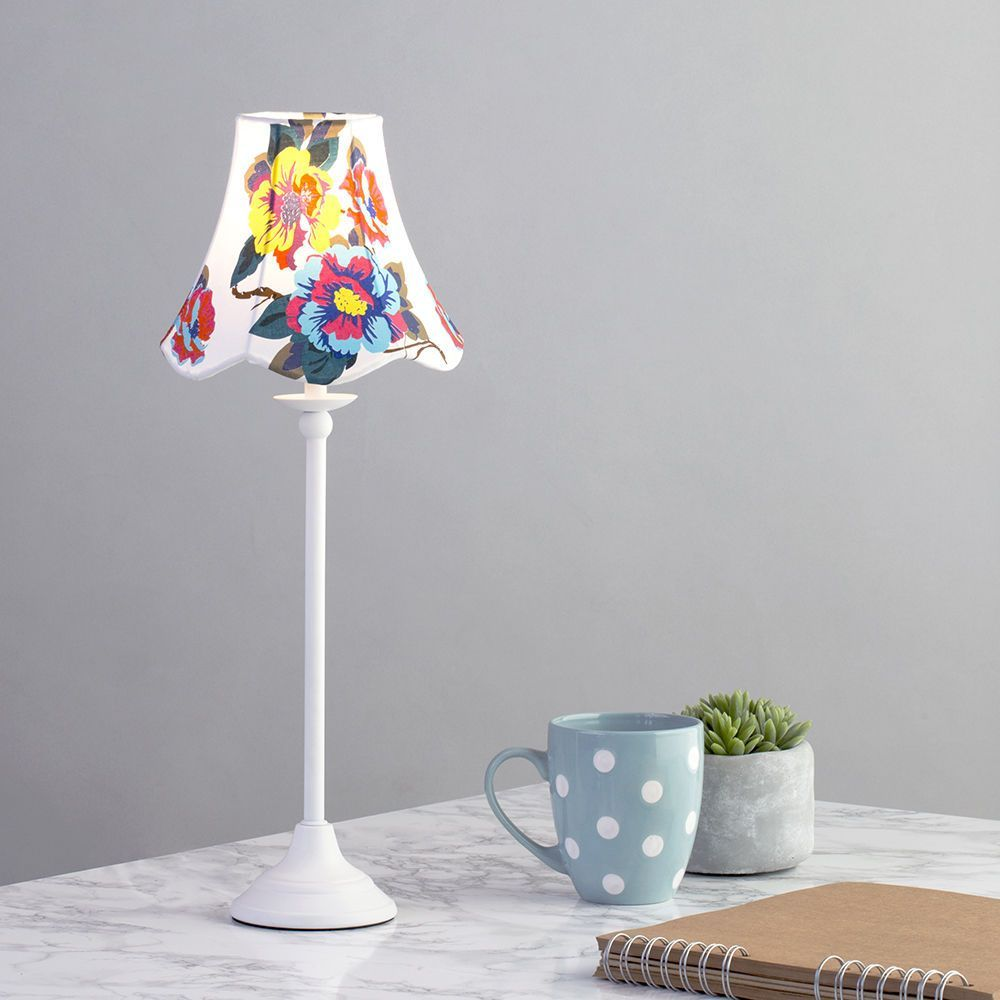 small bedroom lamp traditional styled stick table lamp w floral shade bedside 13243