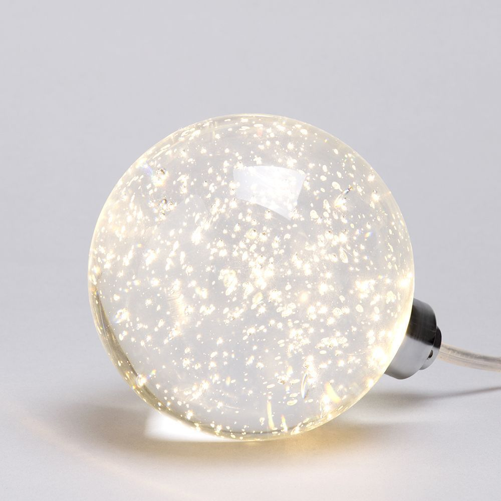 1 Light Led Bubble Glass Ball Table Lamp Chrome From Litecraft