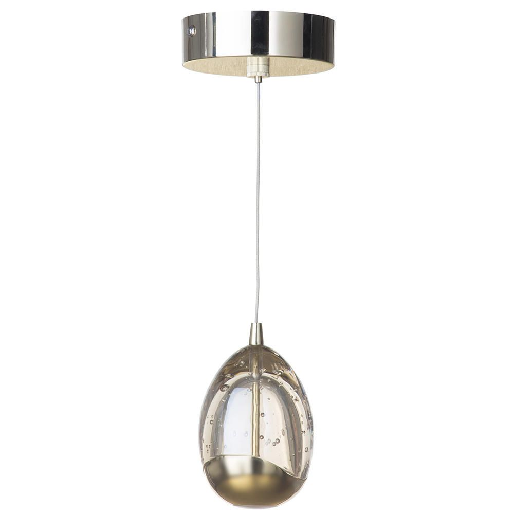 Led Ceiling Lights Gold: Bulla 1 Light LED Ceiling Pendant