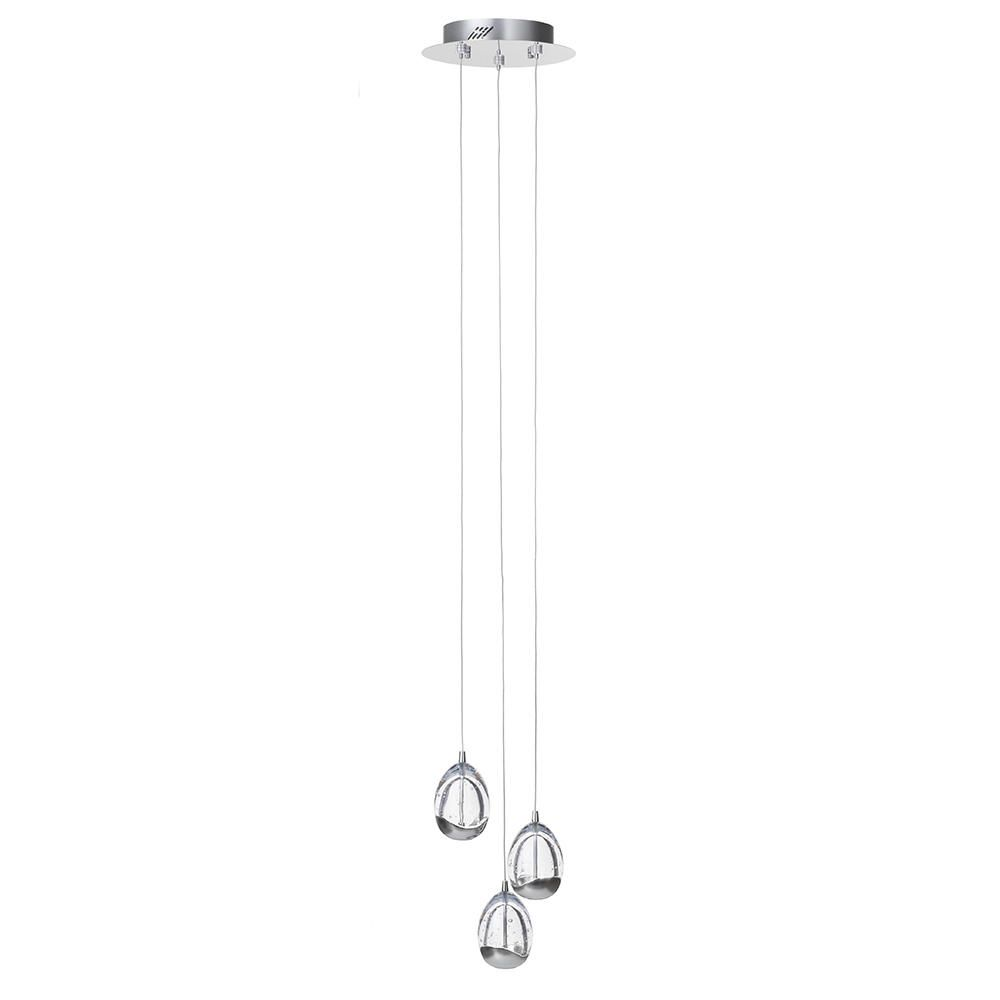Bulla 3 Light Ceiling Light Spiral Cluster Pendant
