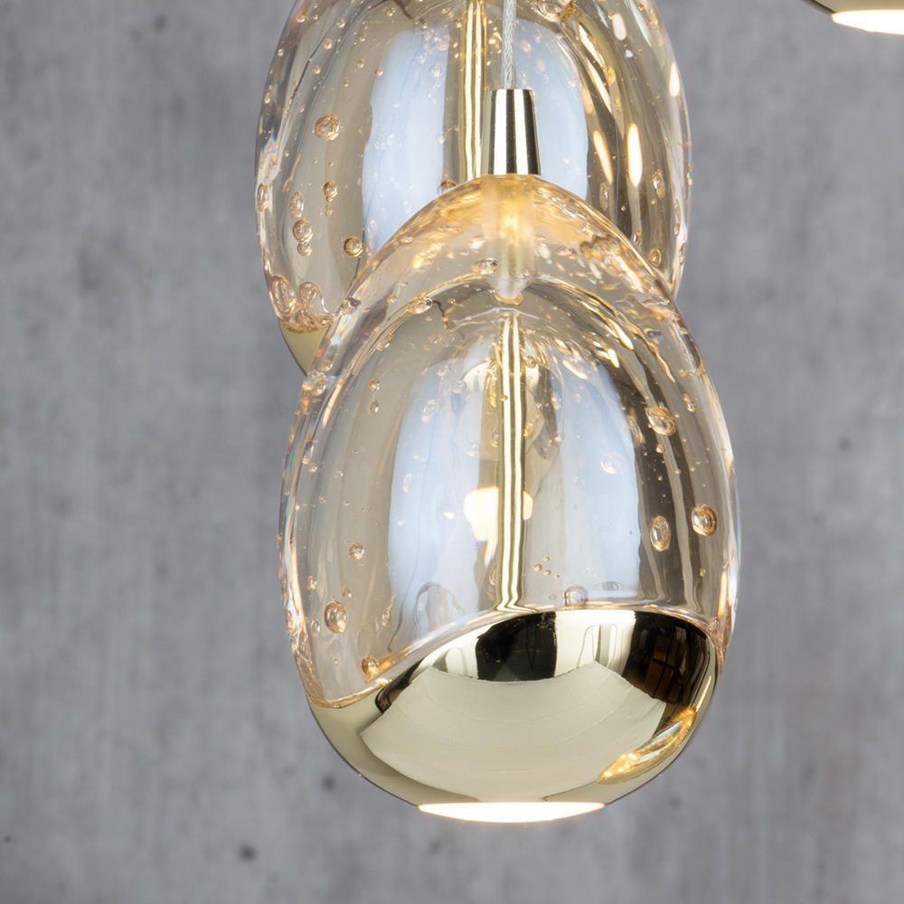 Bulla 7 Light Led Spiral Cluster Ceiling Light Gold From