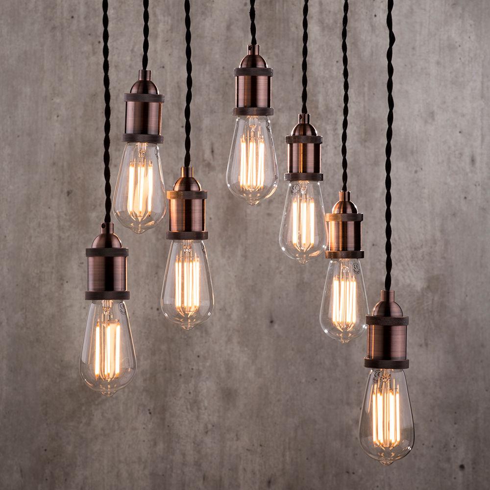 Alton Industrial Style 7 Light Ceiling Cluster Pendant ...