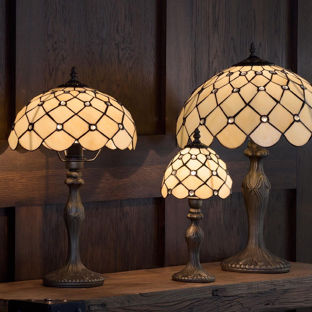 lamps table lamps tiffany jewel 8 inch table lamp with honey shade. Black Bedroom Furniture Sets. Home Design Ideas