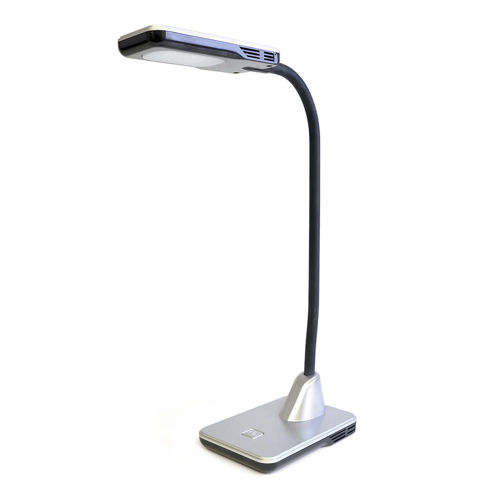 Hekla 1 Light Adjustable LED Task Lamp  Silver
