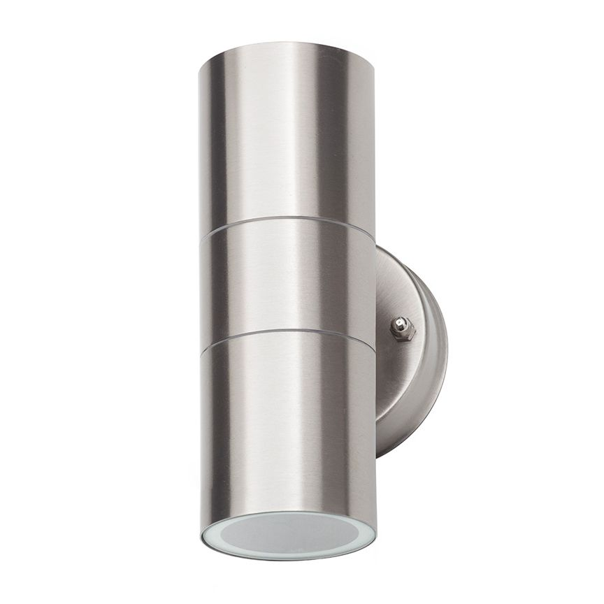 Lighting|Outdoor Lighting Kenn Up & Down Light Outdoor Wall Light with Round Bracket - Stainless Steel