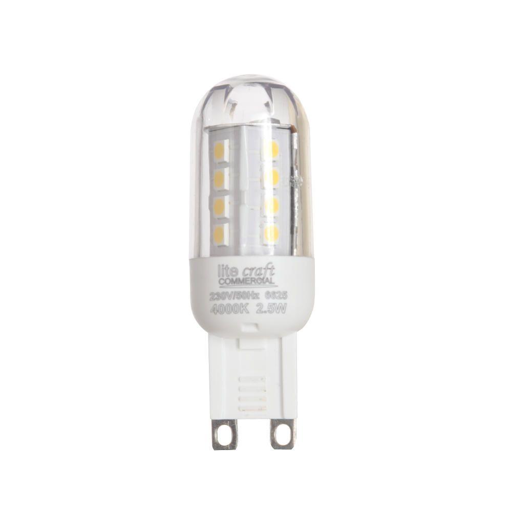 Litecraft G9 LED Capsule Light Bulb 2.5 Watt - Cool White