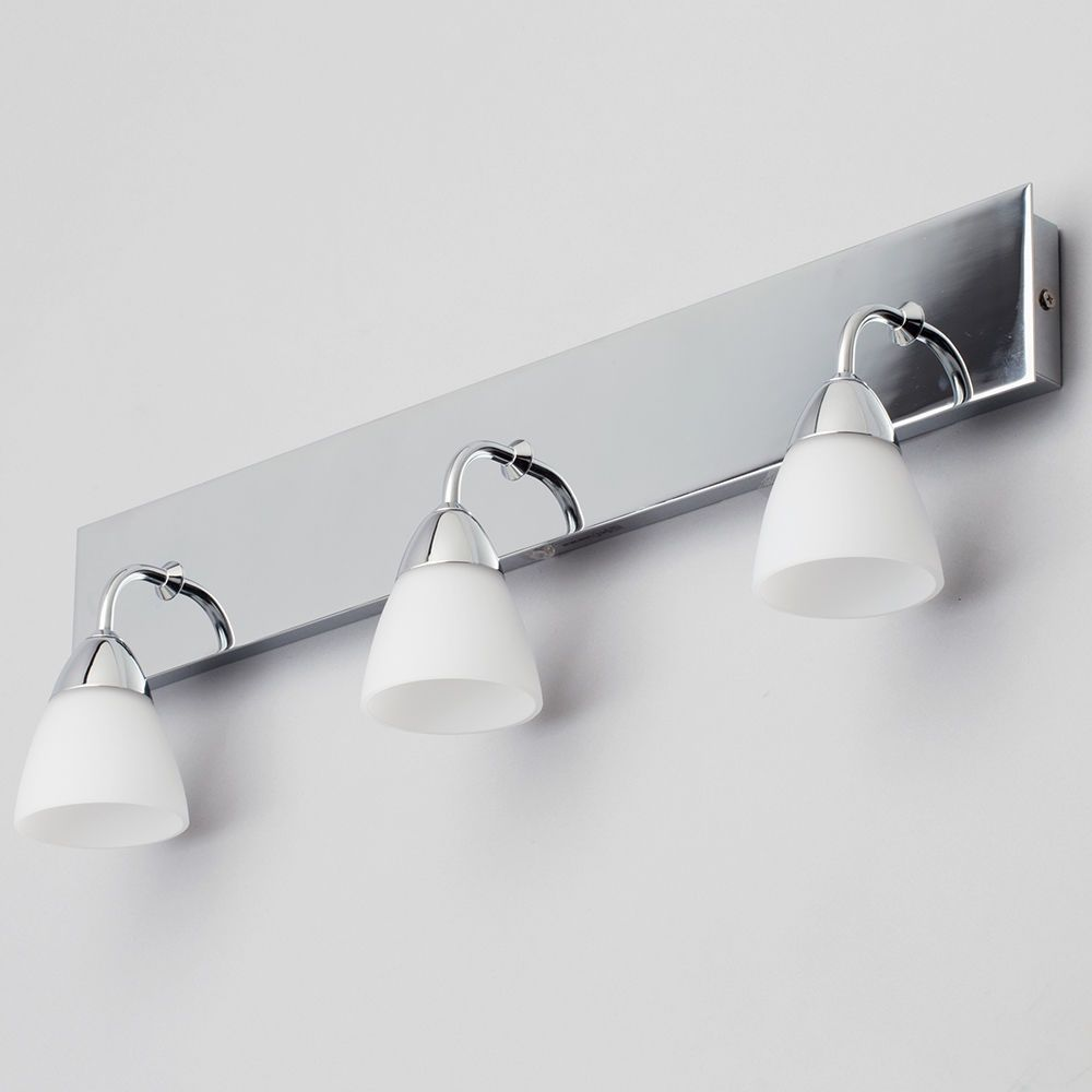 Bathroom Lights Leeds aqua glass bathroom wall light 3 light polished chrome from litecraft