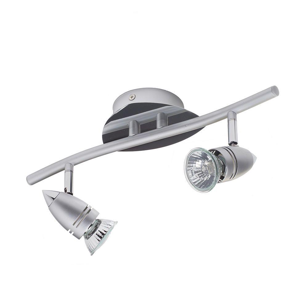 Litecraft Adjustable Ceiling Spotlight Bar - 2 Light - Grey