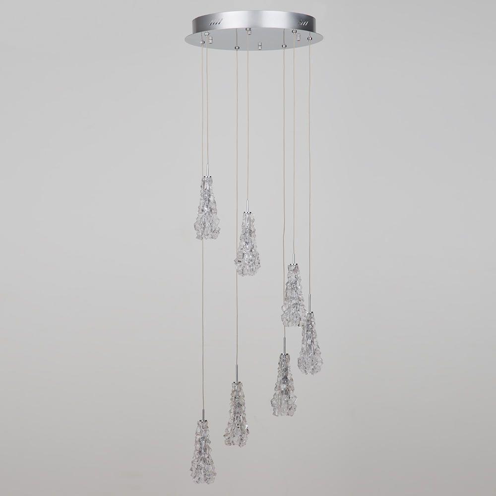 Chrome cluster ceiling lights : Camara light cluster ceiling pendant chrome from litecraft