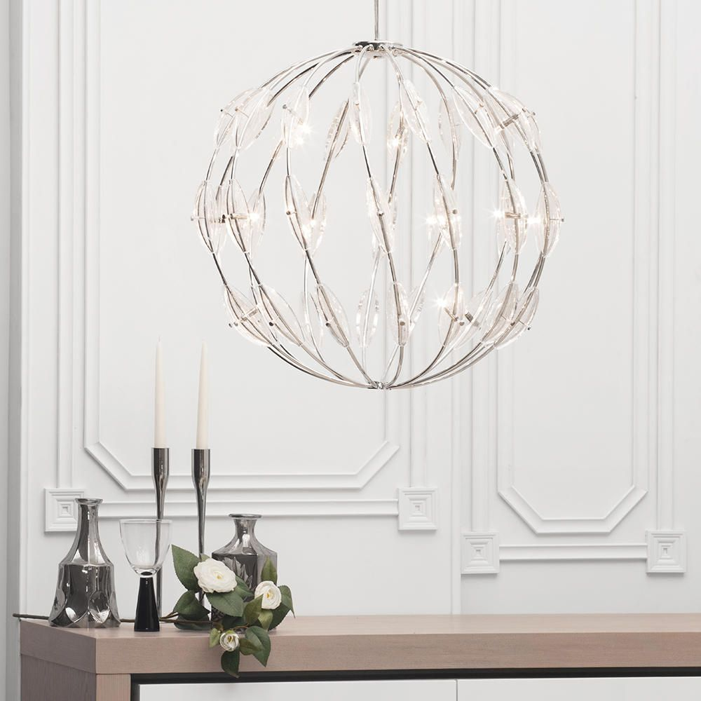 Core 14 light ball ceiling pendant chrome from litecraft statement large ball ceiling pendant light luxurious elegant lifestyle mozeypictures Images