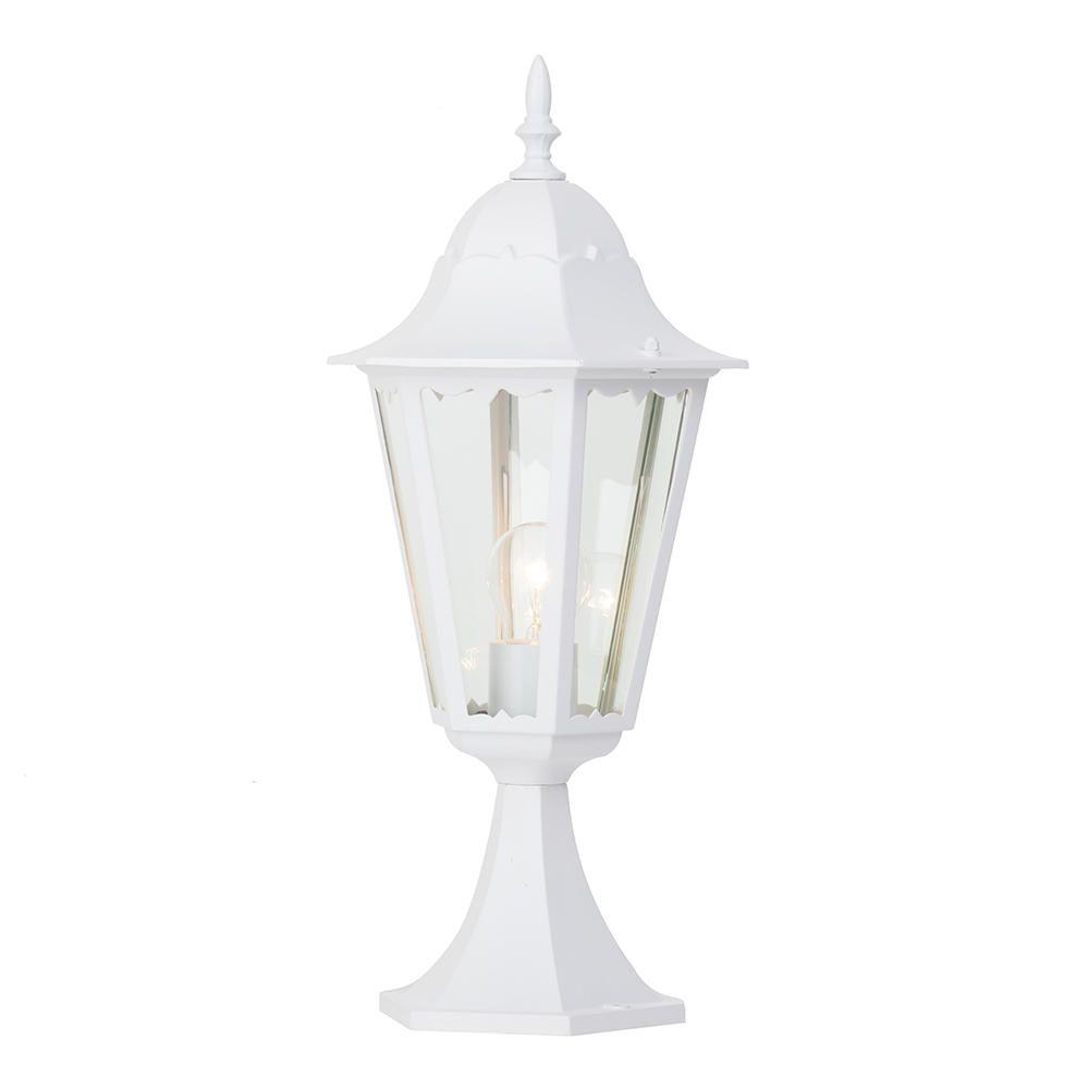 Litecraft Zagorra 1 Light Outdoor Pedestal Light - White