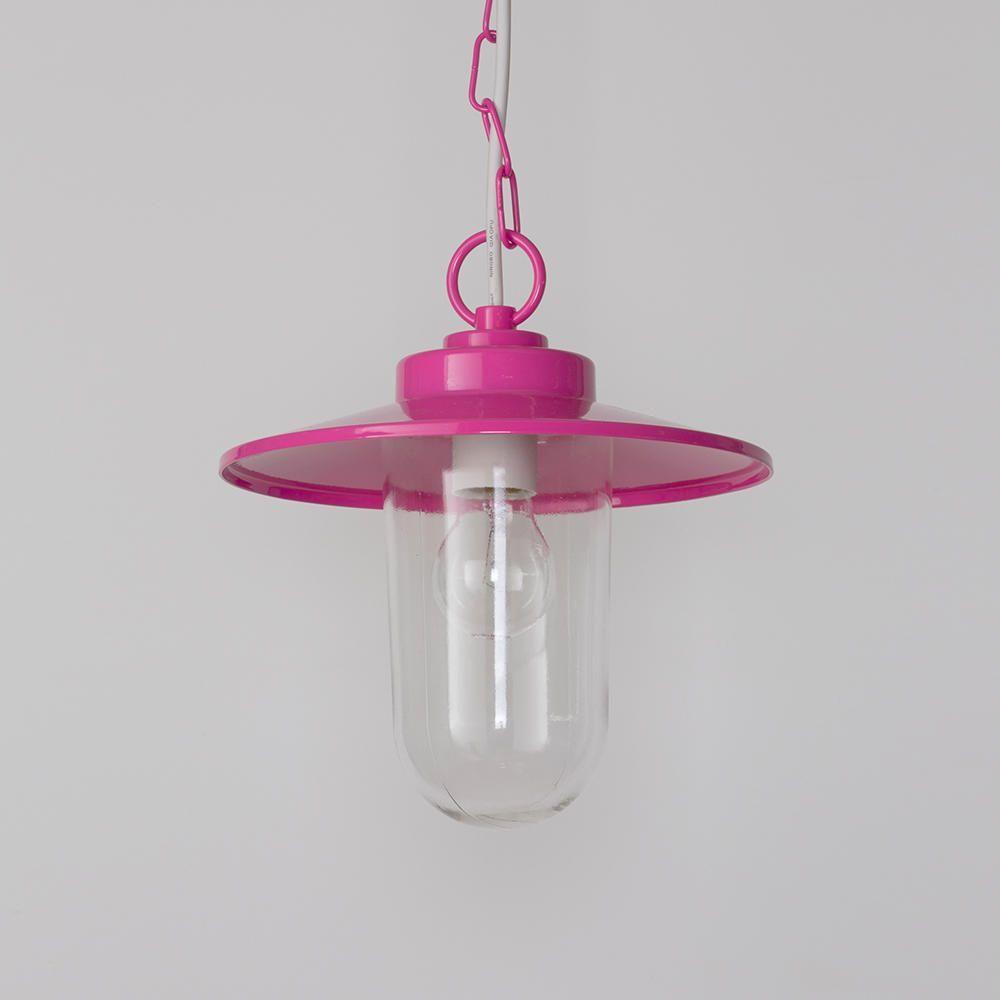 Pink Industrial Pendant Light: Vancouver 1 Light Pendant Ceiling Light