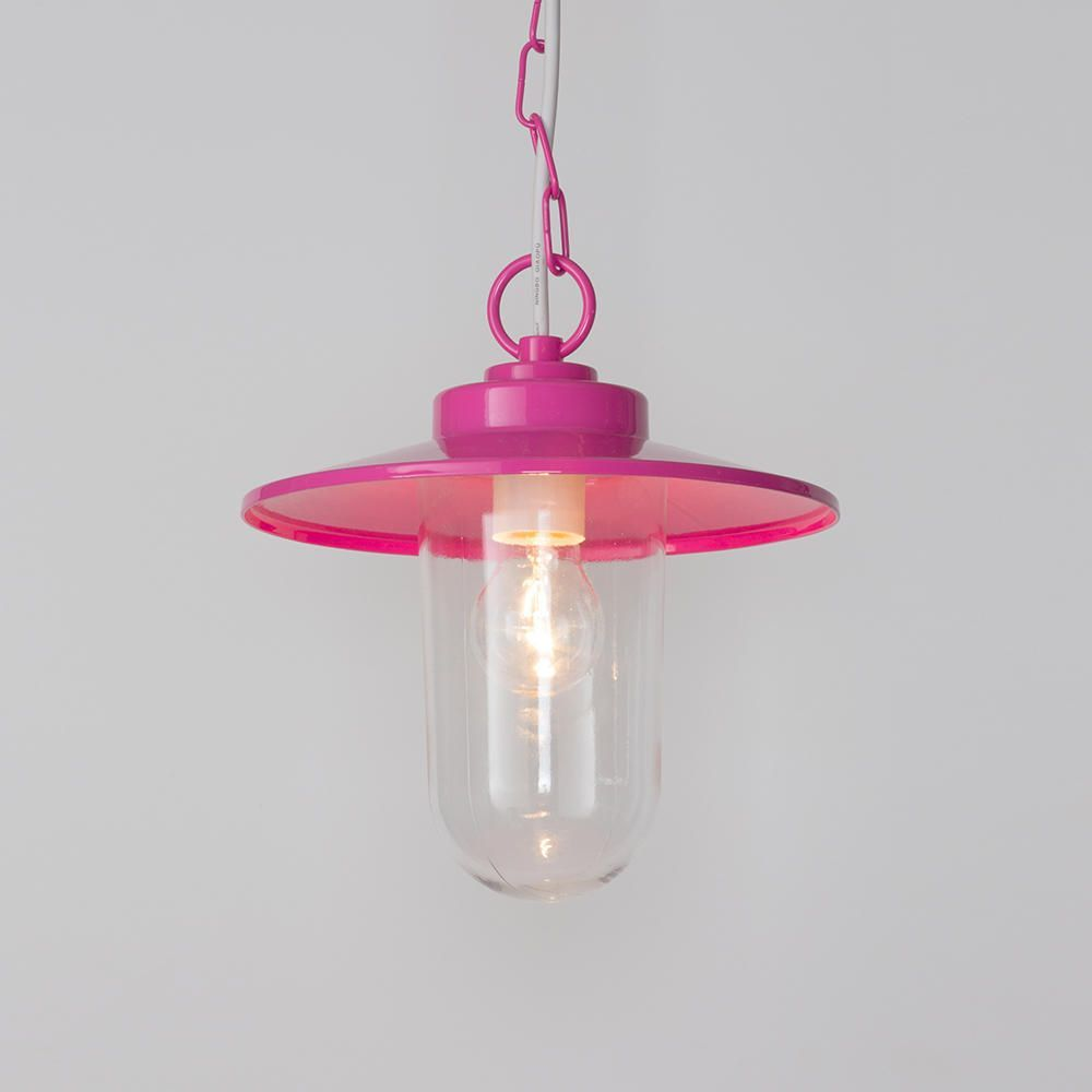 Vancouver 1 Light Pendant Ceiling Light Pink From Litecraft