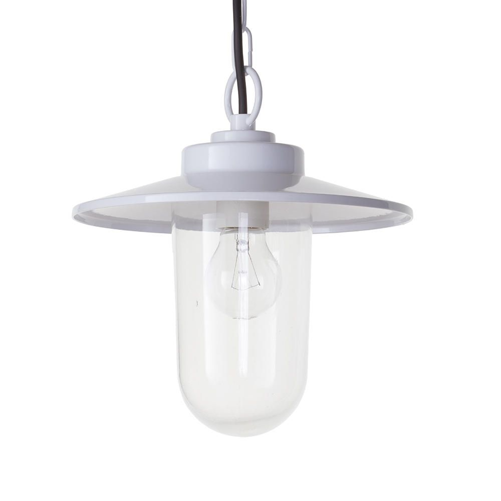 f7226bee024 Vancouver 1 Light Pendant Ceiling Light - White from Litecraft