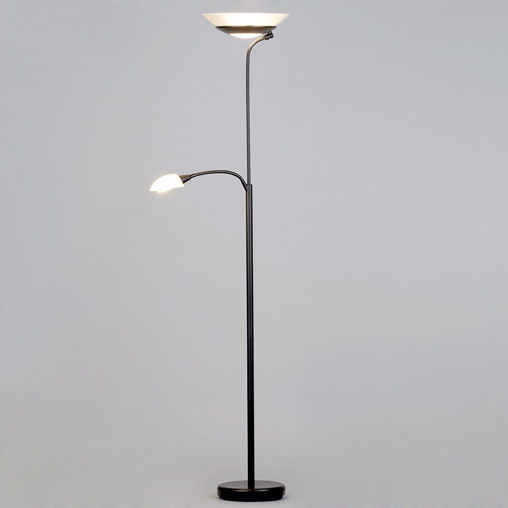 Modern Mother & Child 2 Light Floor Lamp - Black from Litecraft