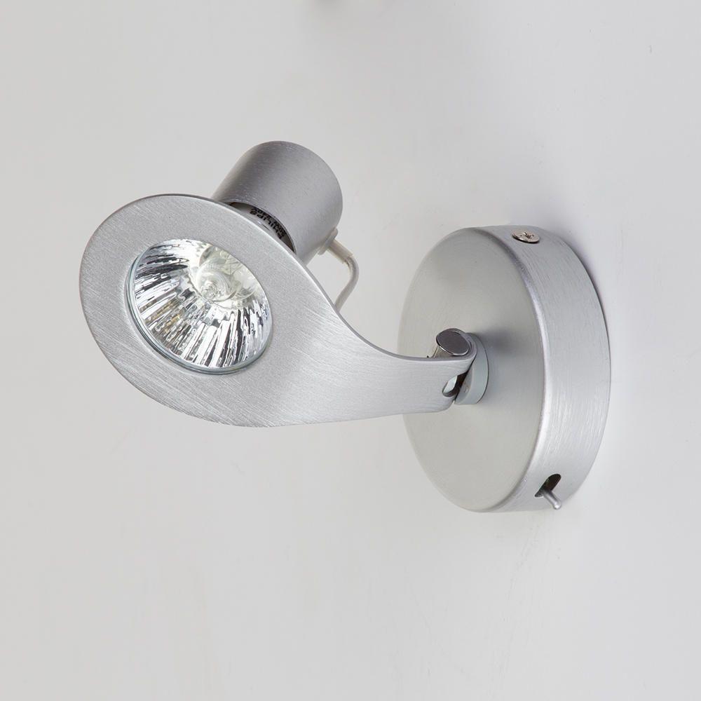 Gino 1 light spotlight wall light aluminium from litecraft gu10 wall spotlight aloadofball Choice Image
