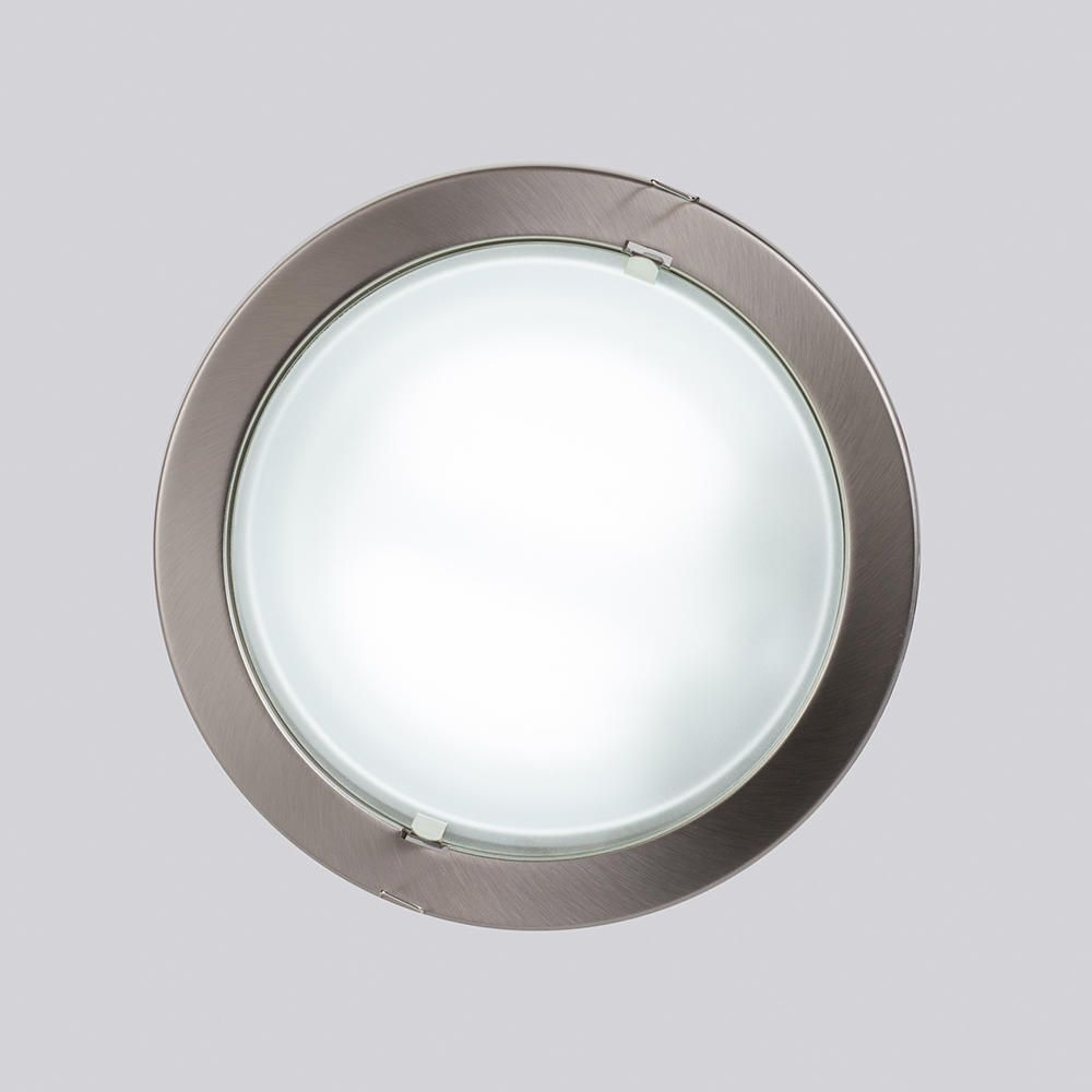 Round recessed ceiling light satin chrome from litecraft bright ceiling light ideal utillity room lighting aloadofball Images