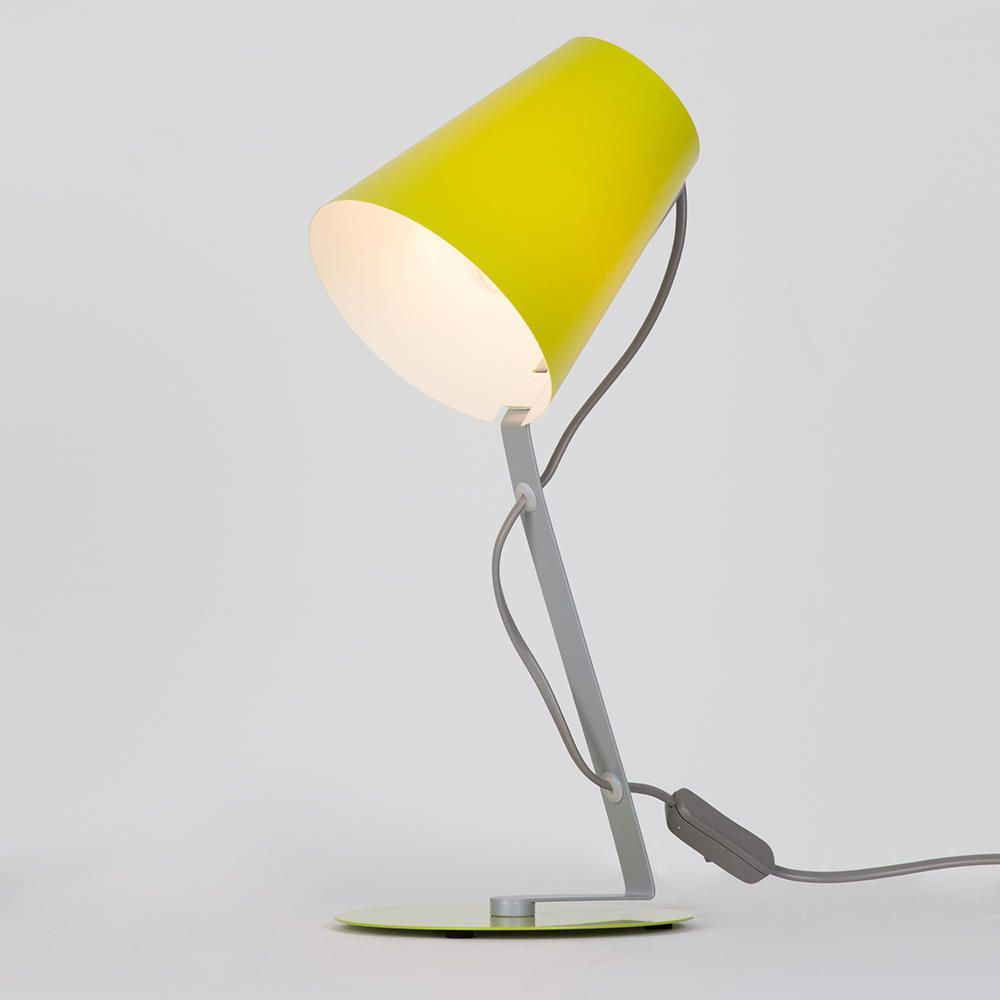 Lime Green Table Lamp Ideal Office Accessory