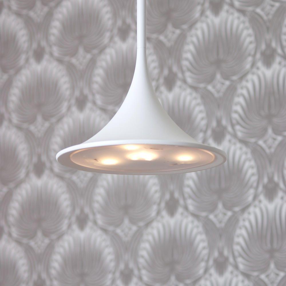 Ledino 1 light pendant ceiling light white from litecraft integrated led bulb ceiling pendant lights aloadofball Images