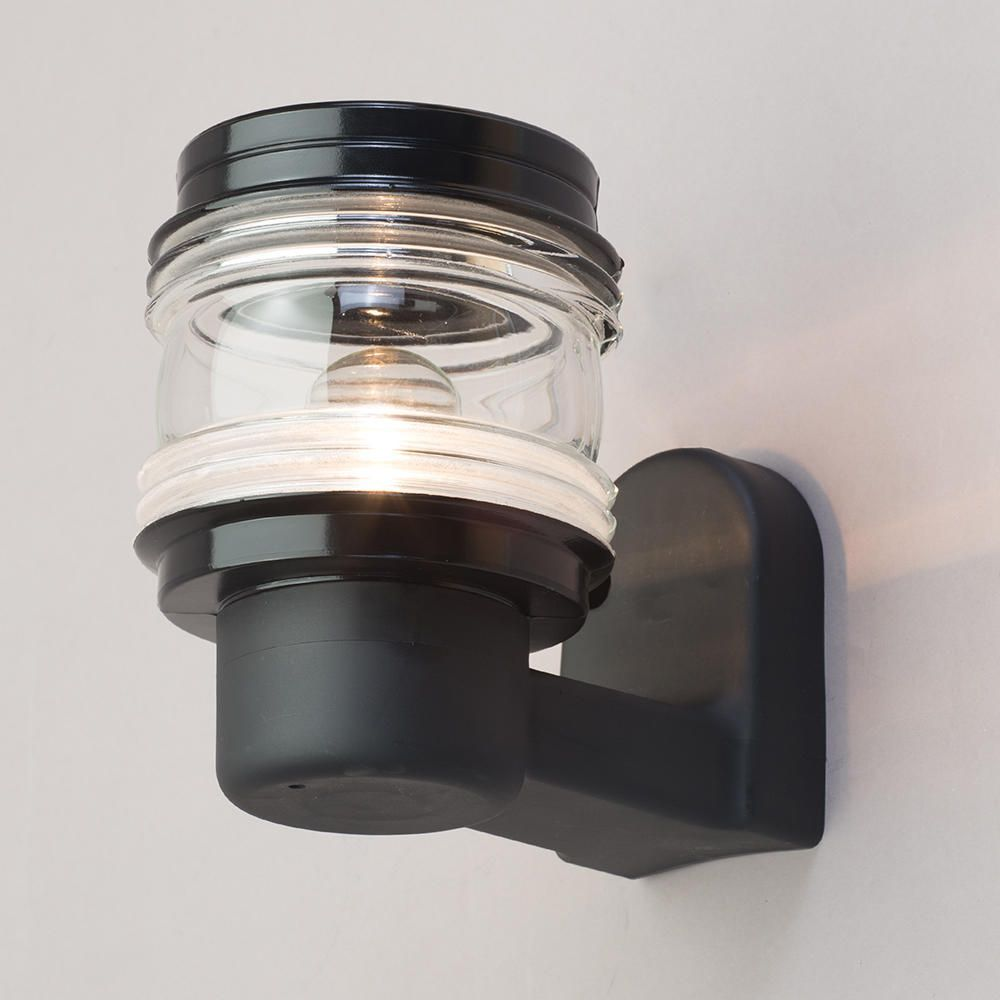 Philips 1 light marine outdoor wall lantern black from litecraft fastfree delivery mozeypictures Choice Image