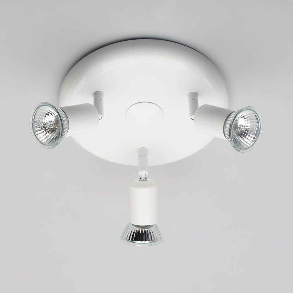 Ceiling Spotlight Plate 3 Light White From Litecraft