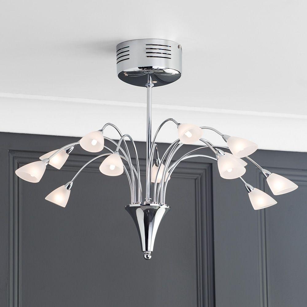 Modern ceiling light liberty 12 light chrome from litecraft modern ceiling lights aloadofball Images