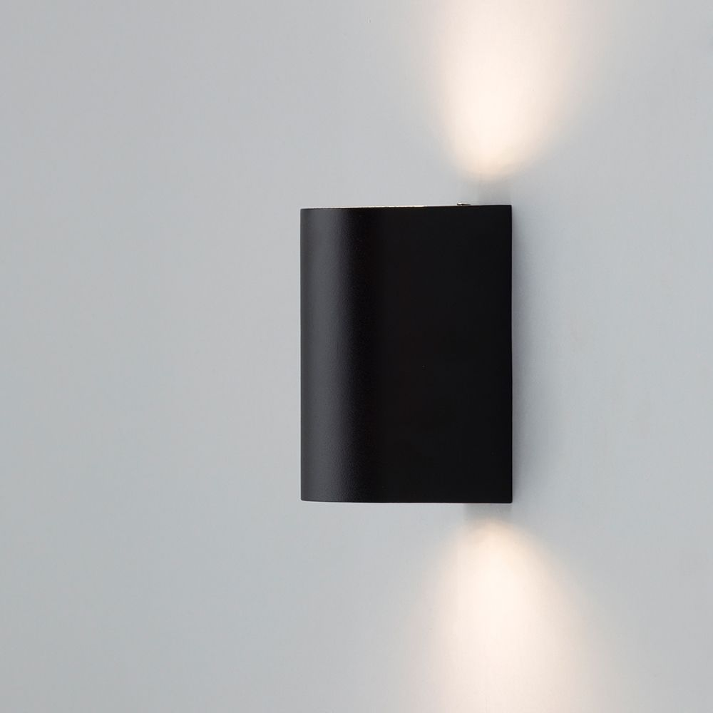 Pack of 2 Outdoor Twin LED Up and Down Lighter Wall Light - Black from Litecraft