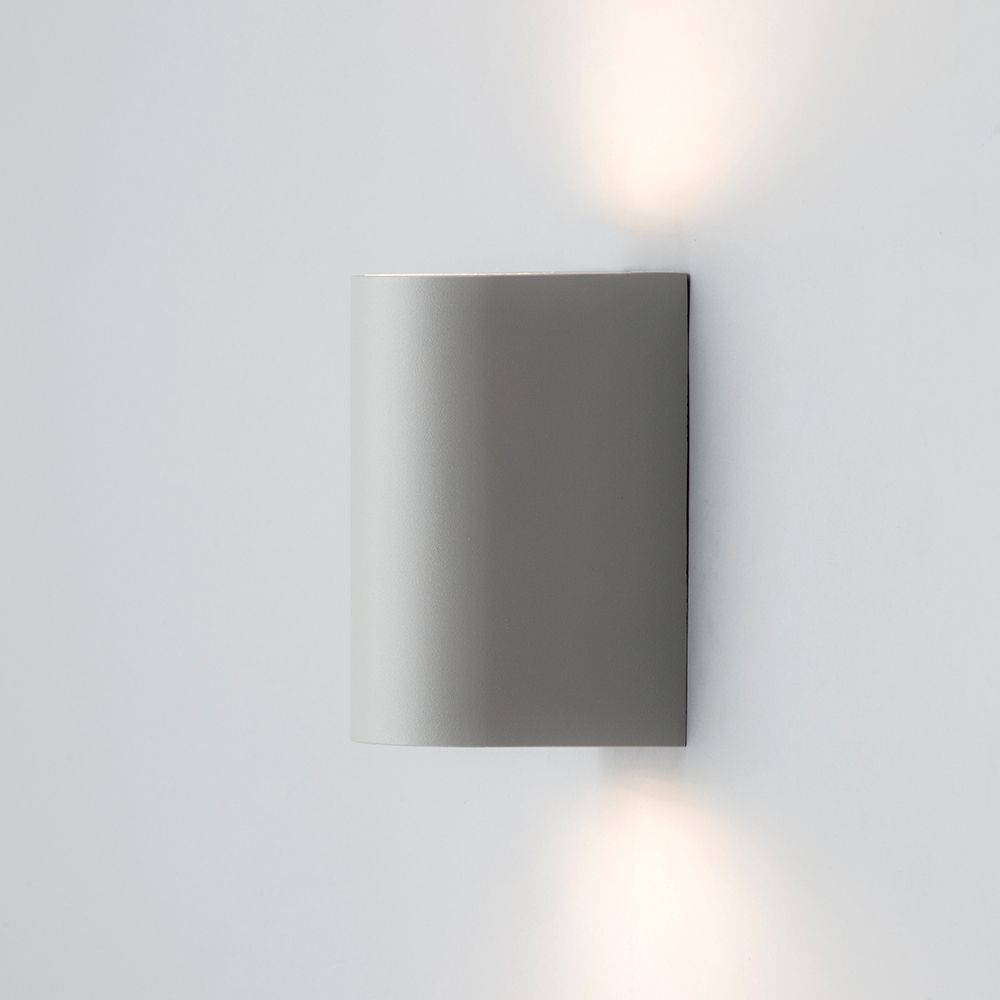 Outdoor Twin LED Up and Down Lighter Wall Light - Grey from Litecraft