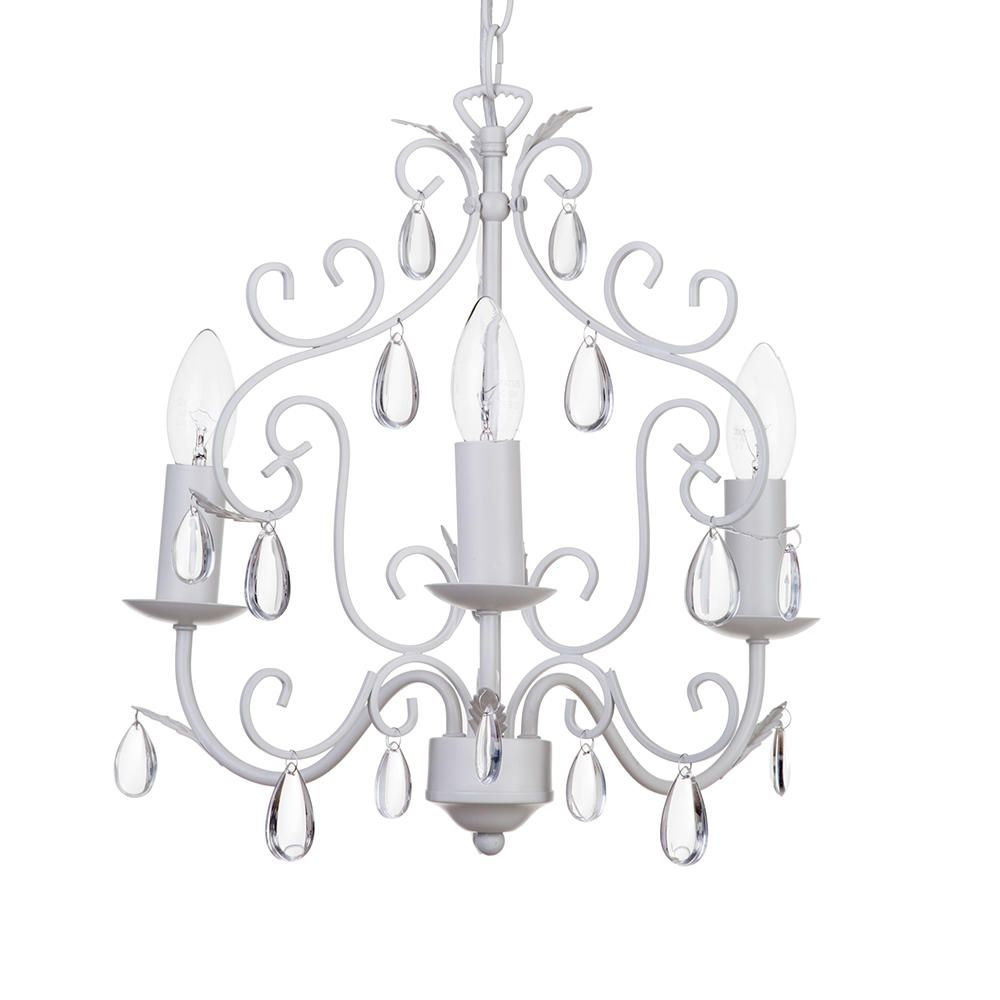 Arielle 3 Light Ceiling Pendant In Cream From Litecraft