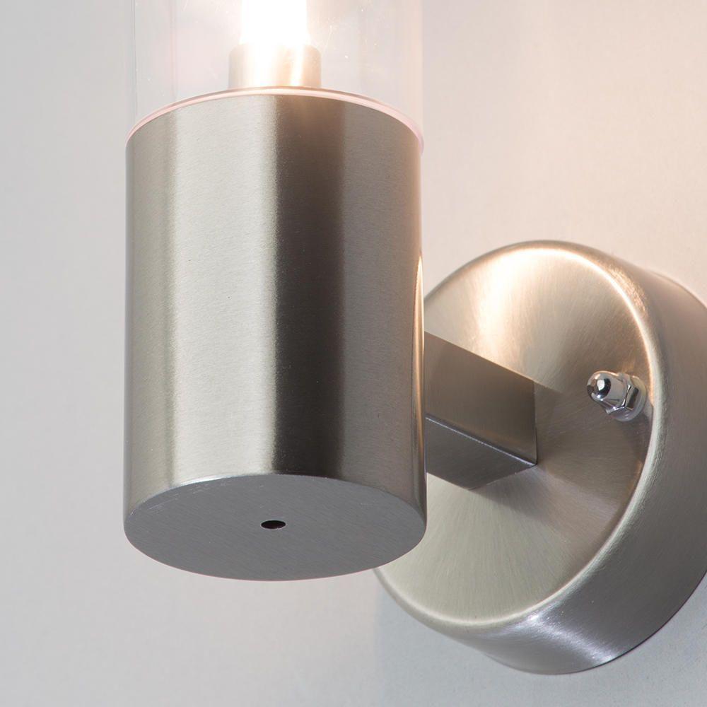 Wall Lights Litecraft : Sigma Outdoor 1 Light Wall Light - Stainless Steel from Litecraft