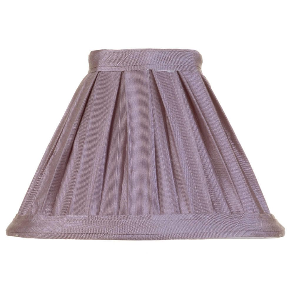 Litecraft 5 Inch Candle Bulb Box Pleat Shade - Grape