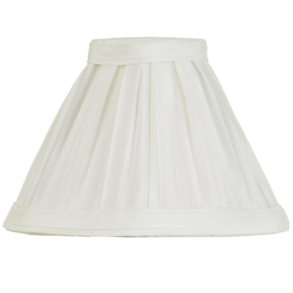 Litecraft 5 Inch Candle Bulb Box Pleat Shade - Ivory
