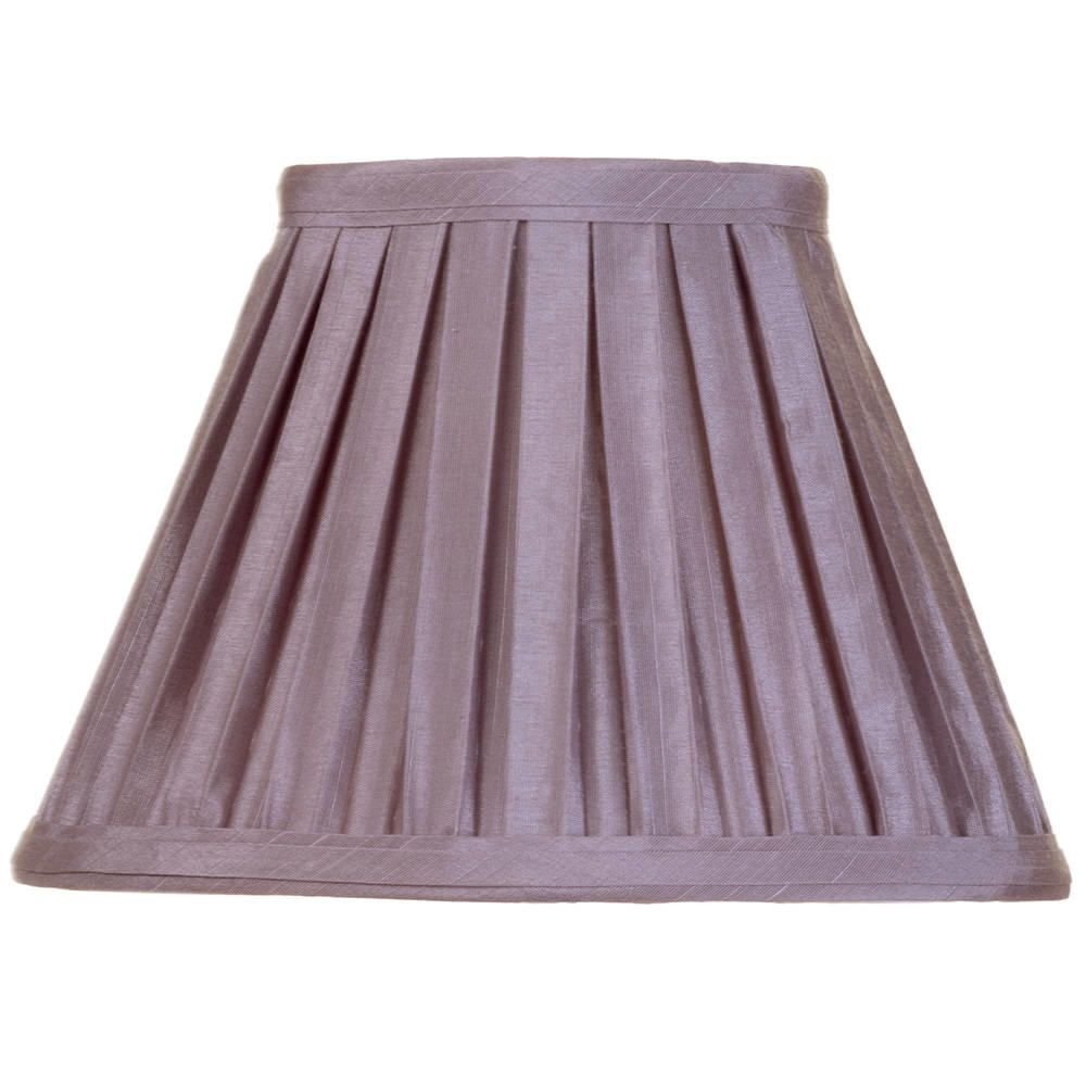 Litecraft 8 Inch Easy to Fit Box Pleat Shade - Grape