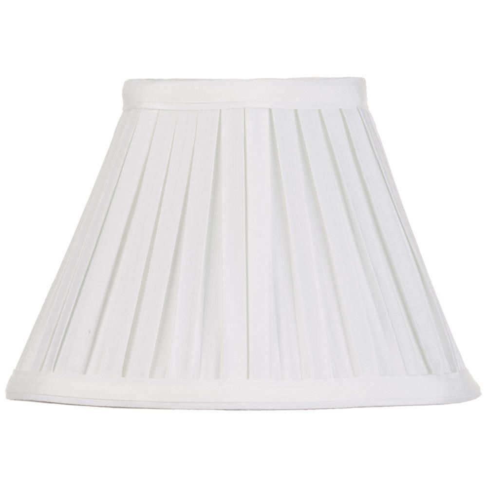 Litecraft 8 Inch Easy to Fit Box Pleat Shade - Ivory