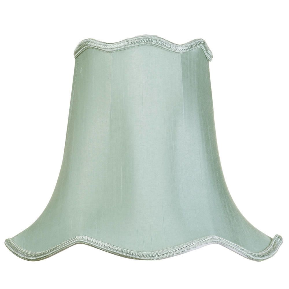 12 Inch Easy to Fit Scalloped Shade Sage