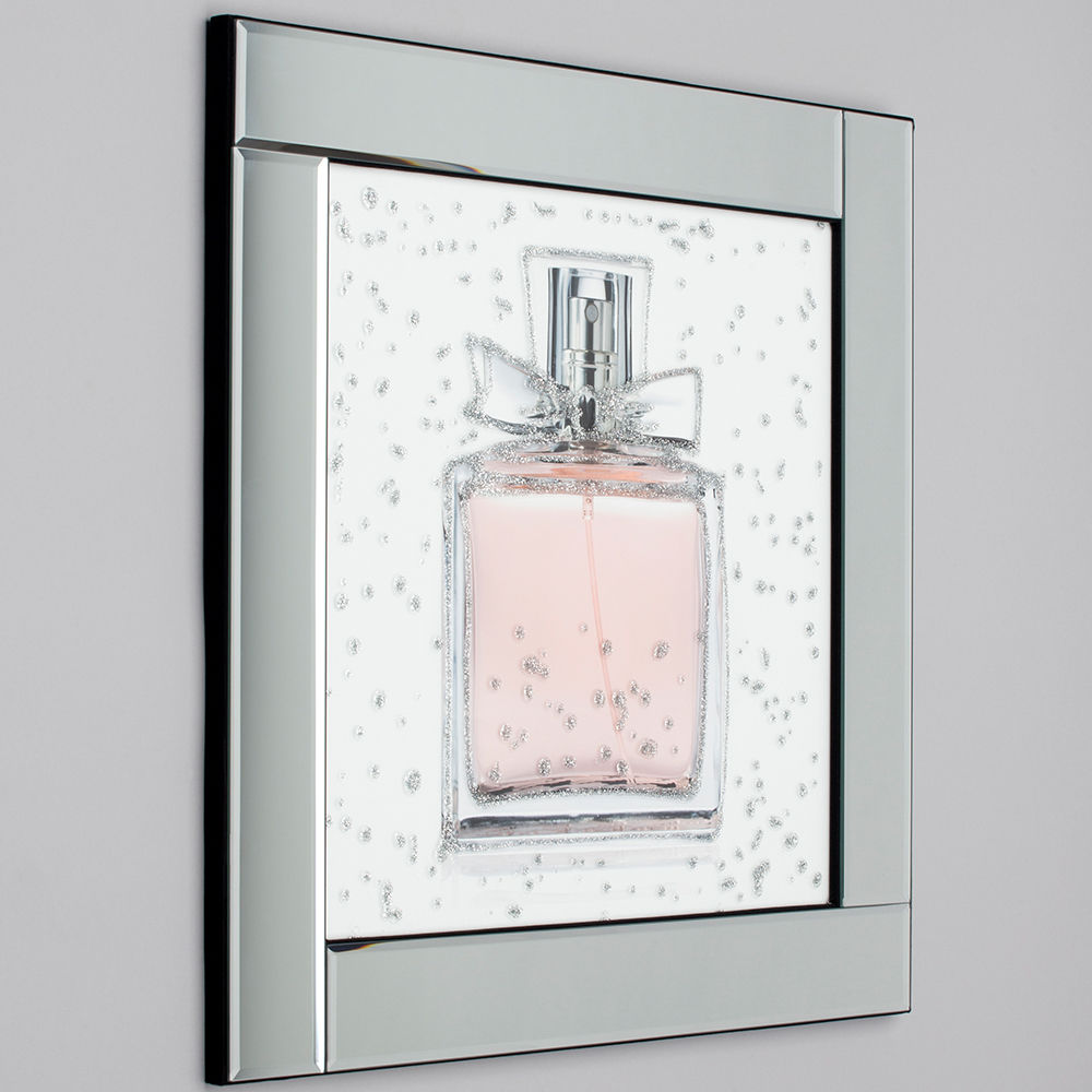 Perfume Bottle Mirrored Picture Frame Silver From Litecraft