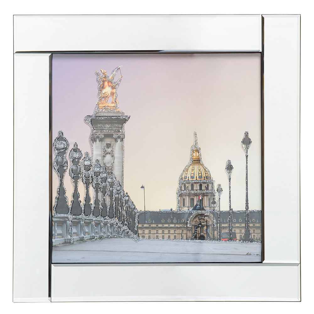 Les Invalides Paris Mirrored Picture Frame Silver From